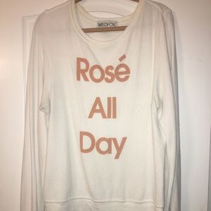 """Rose All Day"" Wildfox pullover"